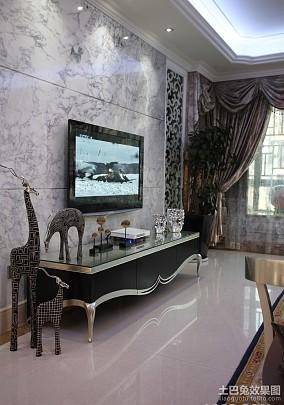 欧式客厅大理石背景墙装修效果图