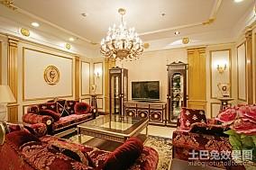 精选82平米复古小户型客厅装修欣赏图片