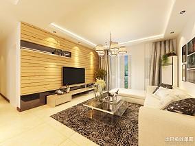 72平米简约小户型客厅装修图片