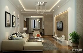 89平米现代小户型客厅装修效果图片欣赏