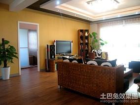 2018精选面积87平小户型客厅东南亚欣赏图片大全