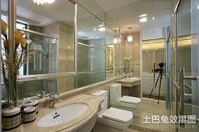 精选面积144平新古典四居卫生间装修欣赏图