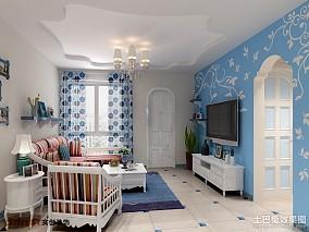 精选119平米地中海复式客厅装修实景图片欣赏