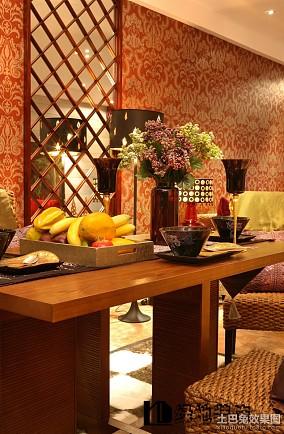 精美东南亚二居餐厅装修设计效果图片欣赏