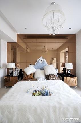 精美面积108平欧式三居卧室装修效果图片大全