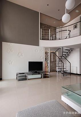 126平米现代复式客厅实景图片大全
