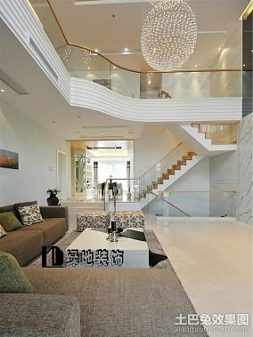 精选143平米现代复式客厅装修设计效果图片大全