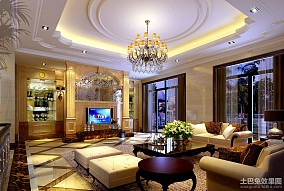 热门大小100平欧式三居客厅装饰图