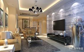 精选面积83平小户型客厅欧式效果图片欣赏