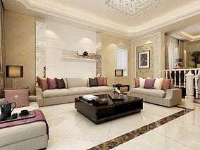 2018面积77平小户型客厅现代装修设计效果图片欣赏