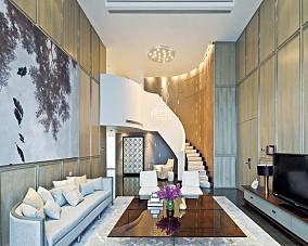 精选简约复式客厅装修实景图