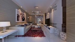 2018面积105平现代三居客厅装饰图片