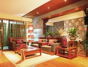 面积107平中式三居客厅装饰图片欣赏
