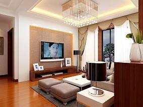 精美大小96平现代三居客厅设计效果图