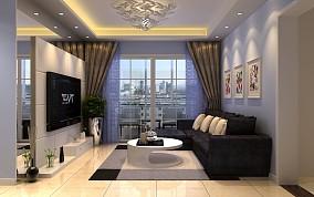 精美大小109平现代三居客厅装修设计效果图