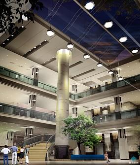 宾馆中厅吊顶装修效果图