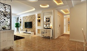 面积94平欧式三居客厅装修设计效果图