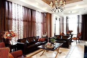 热门119平米田园别墅客厅装修实景图片欣赏