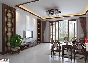 精美二居客厅中式装修图片大全