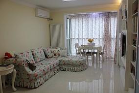 热门82平米二居客厅田园效果图片大全