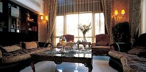 精美大小104平美式三居客厅装修实景图片欣赏