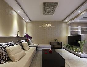精选面积115平现代四居客厅设计效果图