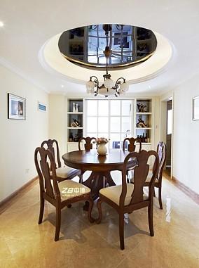 热门面积127平欧式四居餐厅装修欣赏图片