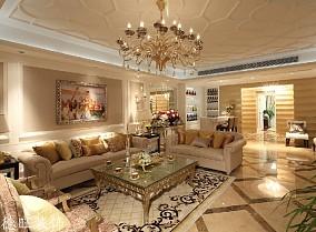 热门面积130平别墅客厅欧式欣赏图片