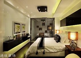 热门74平米现代小户型卧室实景图片