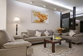 面积77平小户型客厅中式实景图片欣赏