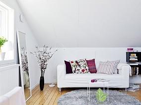 201887平米现代小户型客厅装饰图