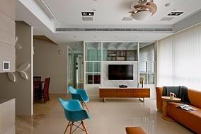 热门75平米现代小户型客厅装饰图片