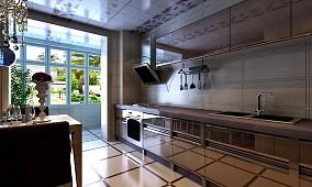 现代整体厨房效果图欣赏