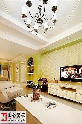 108平米三居客厅田园装饰图片大全