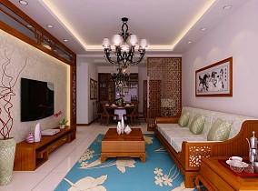 中式客厅电视墙装修效果图大全2013图片