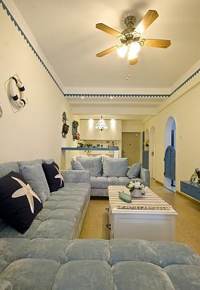 精美87平米地中海小户型客厅实景图片