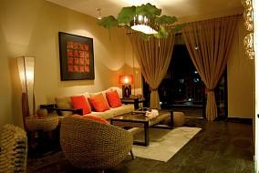 热门面积74平小户型客厅现代欣赏图