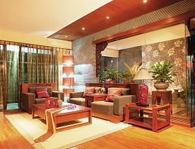 精美面积70平东南亚二居客厅装饰图片大全