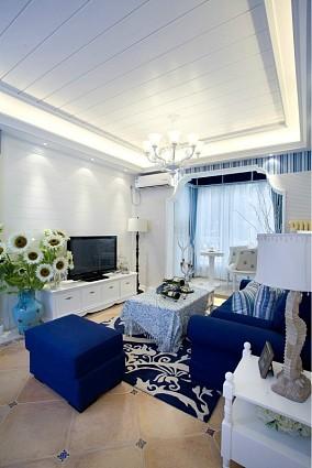 2018面积86平小户型客厅地中海效果图片