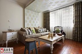 2018精选面积84平美式二居客厅装修设计效果图片欣赏