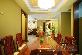精美面积92平中式三居餐厅实景图