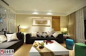精美大小77平中式二居客厅实景图