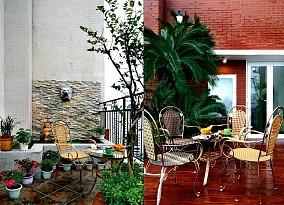 露天阳台家庭园艺装修效果图片