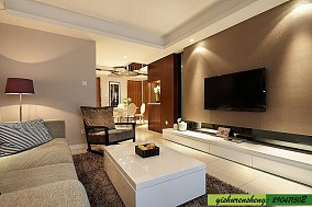 热门现代小户型客厅装修实景图片欣赏