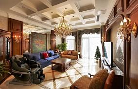 美式家装客厅吊顶效果图片