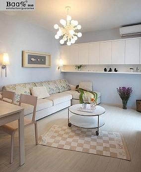 热门面积87平小户型客厅现代装饰图片