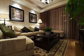 精美面积88平小户型客厅美式效果图