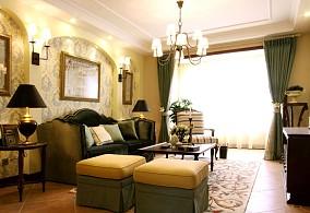 热门小户型客厅美式装修设计效果图片大全