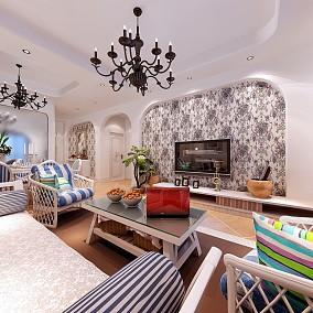 2018精选地中海小户型客厅装修设计效果图片大全