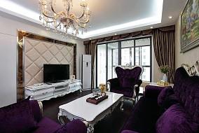 热门77平米欧式小户型客厅装修效果图片欣赏
